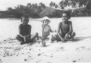Self  and Mates at Cuvu Beach, 1941